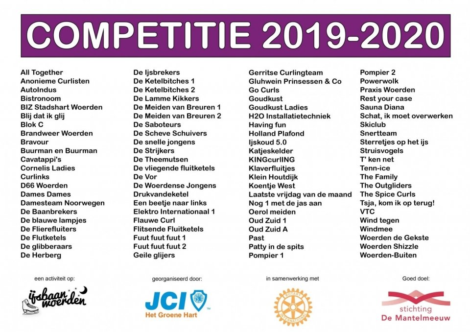 Competitie is vol!